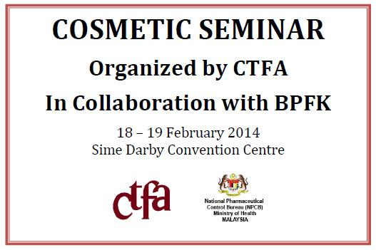 Cosmetic Seminar Organized by CTFA in Collaboration with BPFK