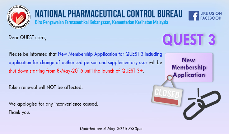 Closure of Q3 New Member Application